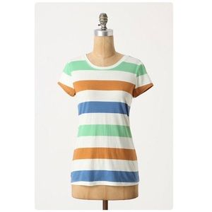 Pilcro and the letterpress striped boy tee Anthro